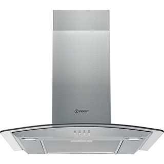 Indesit HOOD Built-in IHGC 6.5 LM X Inox Wall-mounted Mechanical Frontal