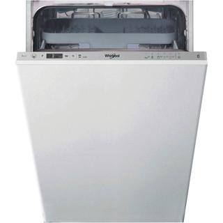 Посудомийна машина Whirlpool інтегрована: сріблястий колір, вузька - WSIC 3M27 C