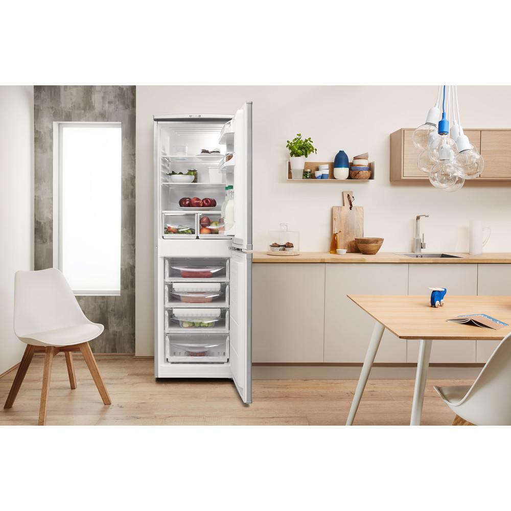 Indesit Комбиниран хладилник с камера Свободностоящи CAA 55 NX Инокс 2 врати Lifestyle frontal open