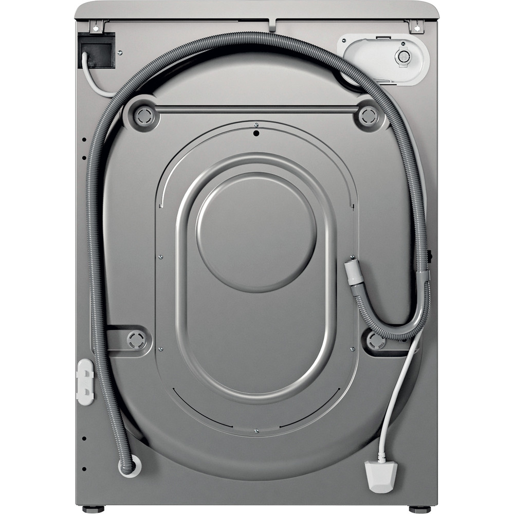Indesit Washing machine Free-standing BWE 71452 S UK N Silver Front loader E Back / Lateral
