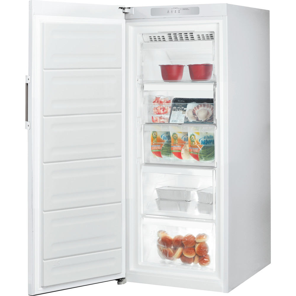 Indesit Congelador Livre Instalação UI4 F1T W Branco global Perspective open