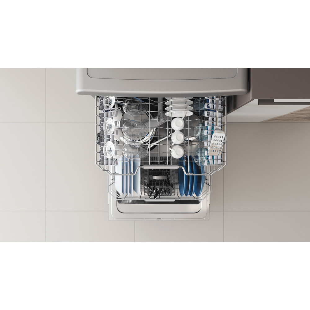Indesit Umývačka riadu Voľne stojace DFO 3C26 X Voľne stojace E Rack