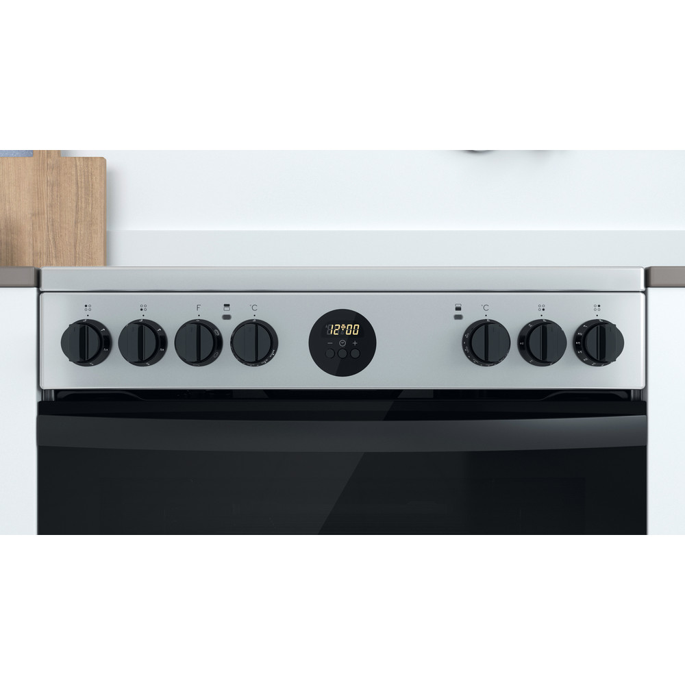 Indesit Double Cooker ID67V9HCX/UK Inox A Lifestyle control panel