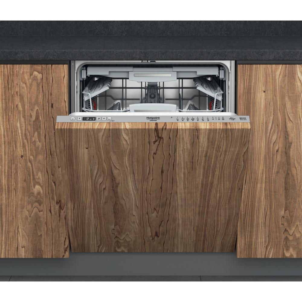 Hotpoint_Ariston Посудомоечная машина Встраиваемая HIC 3O33 WLEG Full-integrated A Frontal