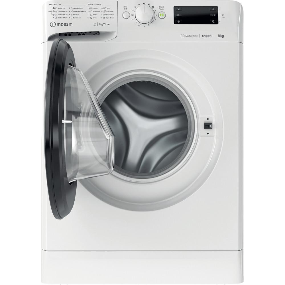 Indsit Maşină de spălat rufe Independent MTWE 81283 WK EE Alb Încărcare frontală D Frontal open