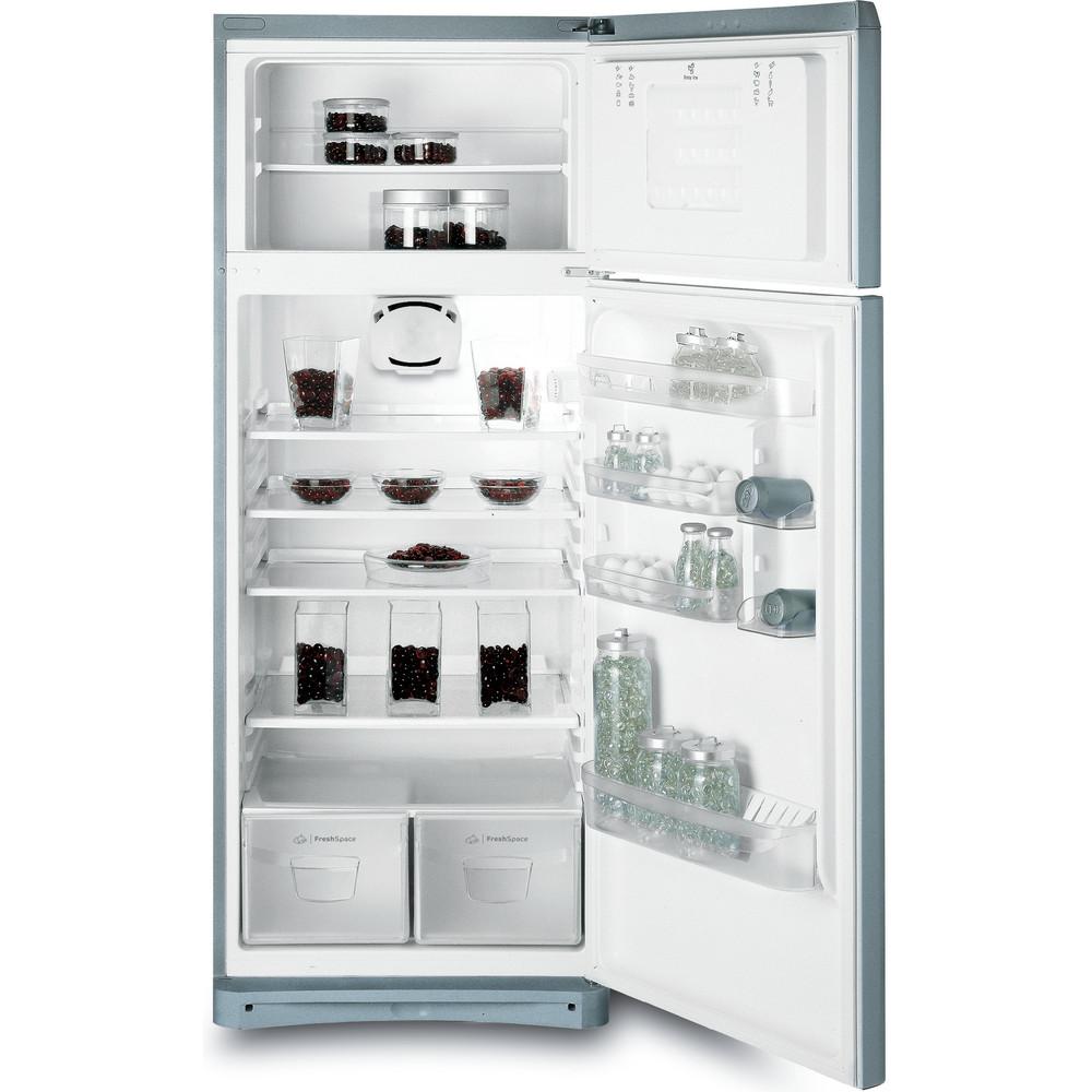 Indesit Combiné réfrigérateur congélateur Pose-libre TEAAN 5 S 1 Argent 2 portes Frontal open