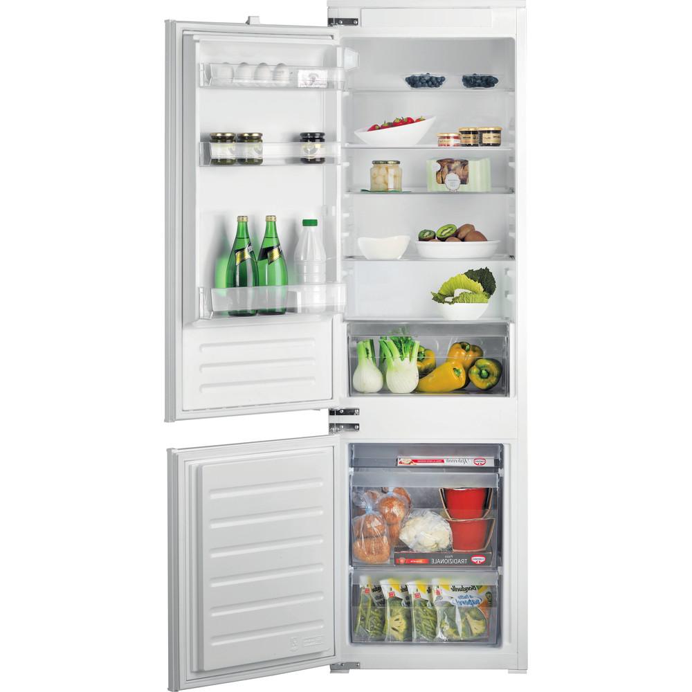 Hotpoint_Ariston Combinazione Frigorifero/Congelatore Da incasso BCB 7525 S1 Bianco 2 porte Frontal open