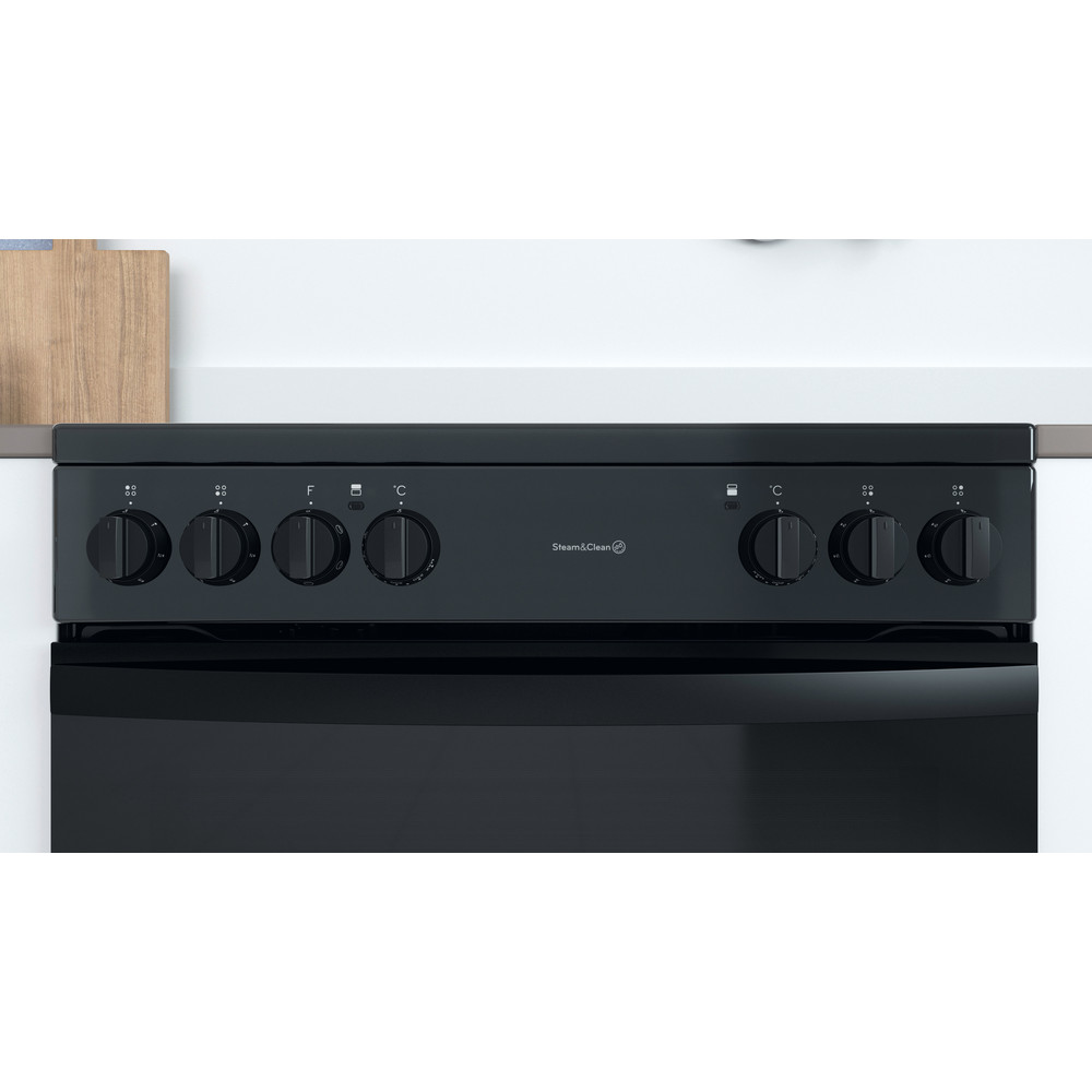 Indesit Double Cooker ID67V9KMB/UK Black A Lifestyle control panel