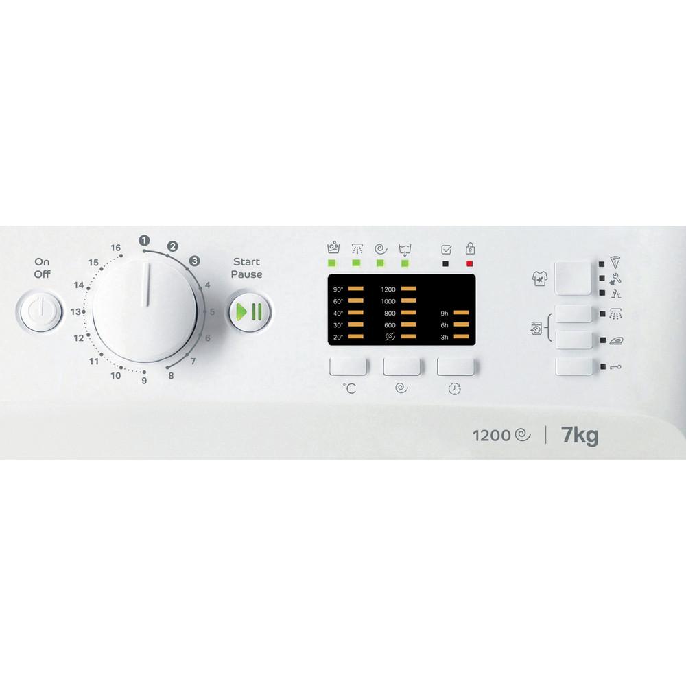 Indsit Maşină de spălat rufe Independent MTWA 71252 W EE Alb Încărcare frontală E Control panel