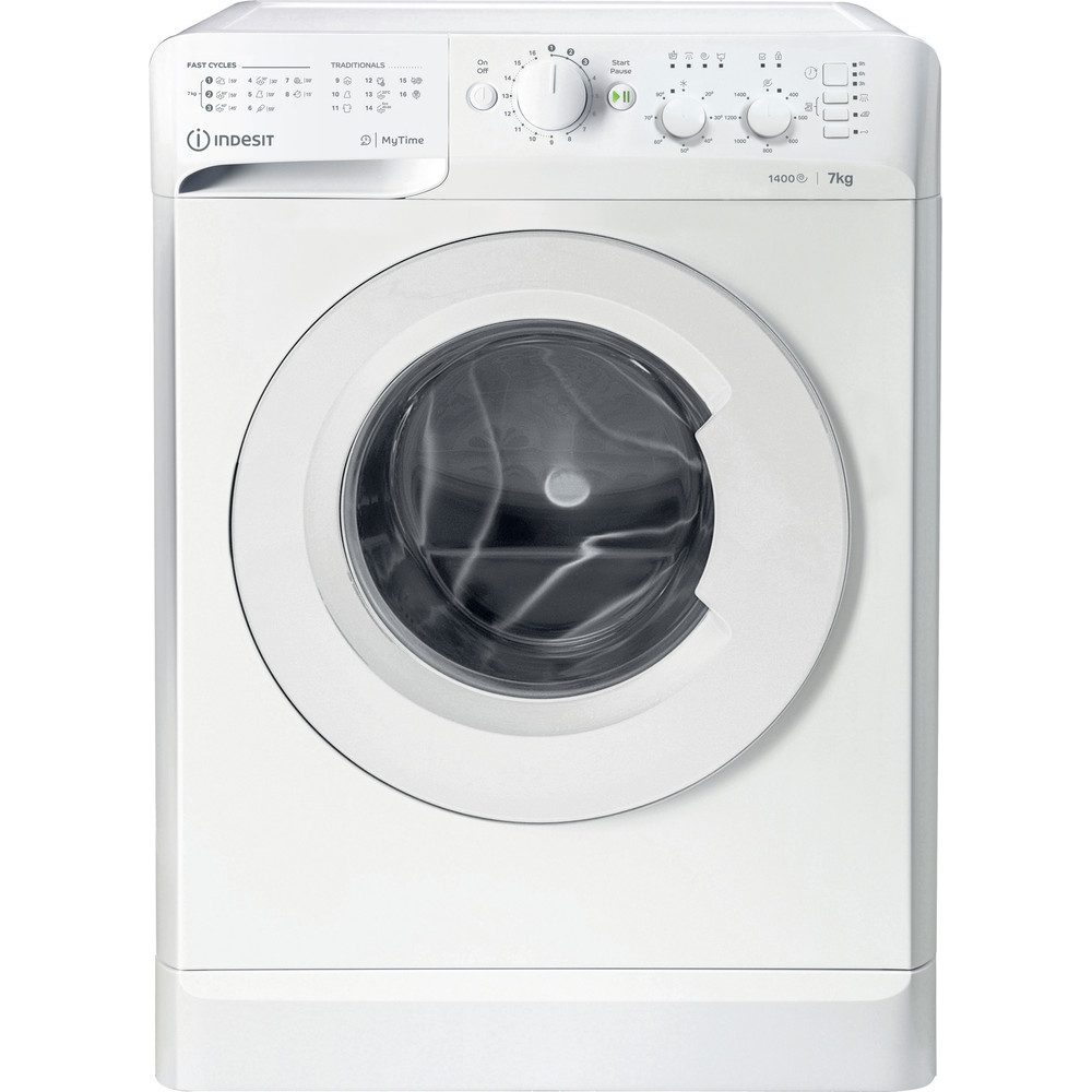 Indesit Vaskemaskine Fritstående MTWC 71452 W EU Hvid Frontbetjent E Frontal