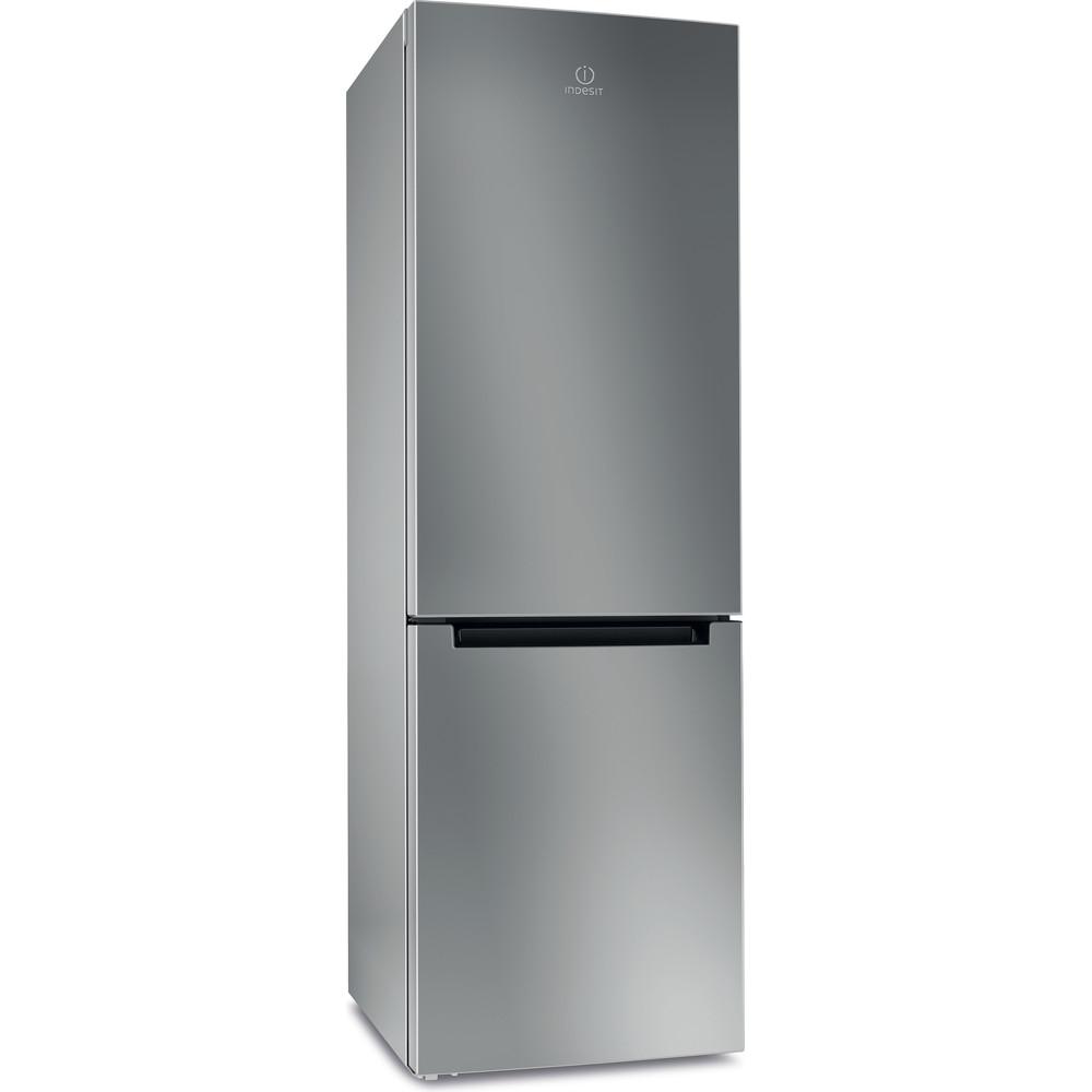 Indesit Холодильник с морозильной камерой Отдельностоящий DFM 4180 S Серебристый 2 doors Perspective