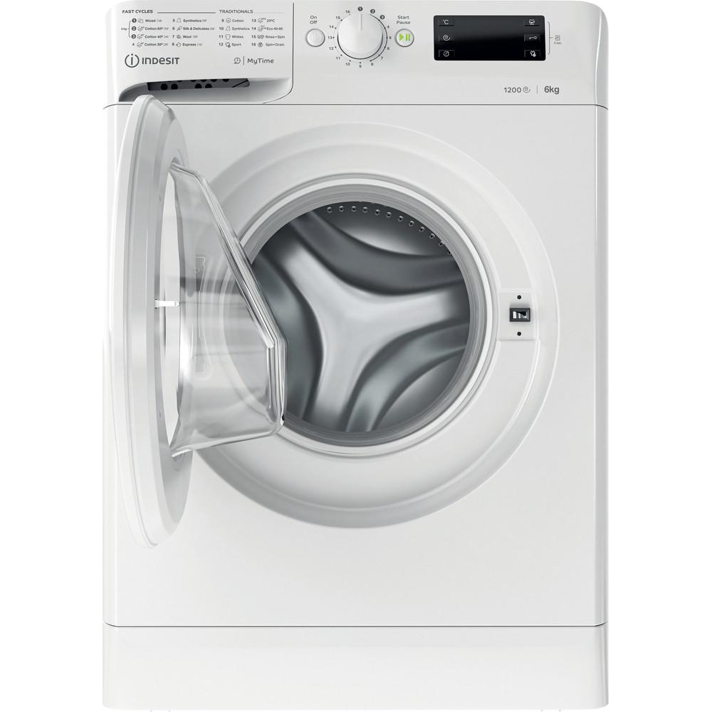 Indsit Maşină de spălat rufe Independent MTWSE 61252 W EE Alb Încărcare frontală A +++ Frontal open