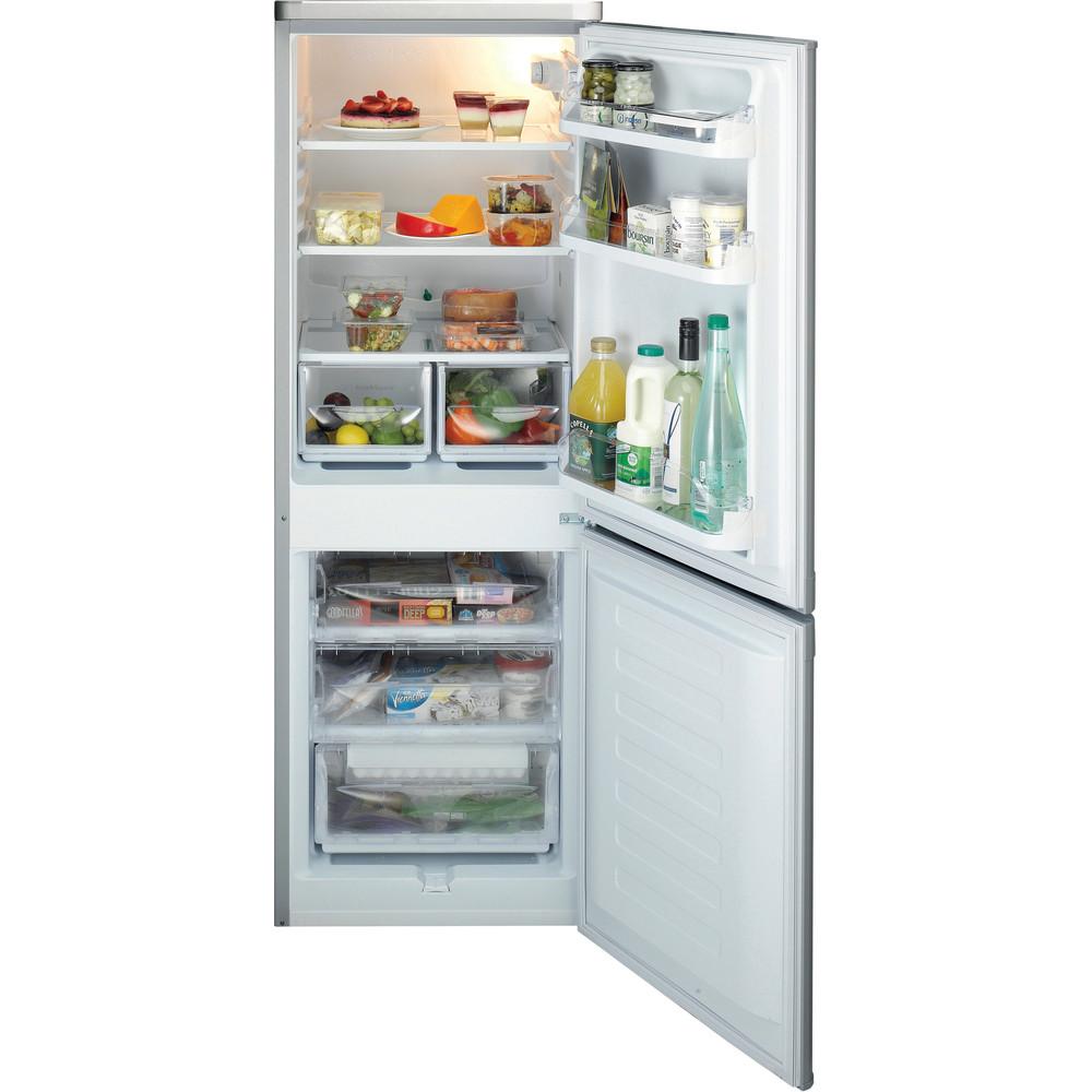 Indesit Fridge-Freezer Combination Free-standing IBD 5515 S 1 Silver 2 doors Frontal open