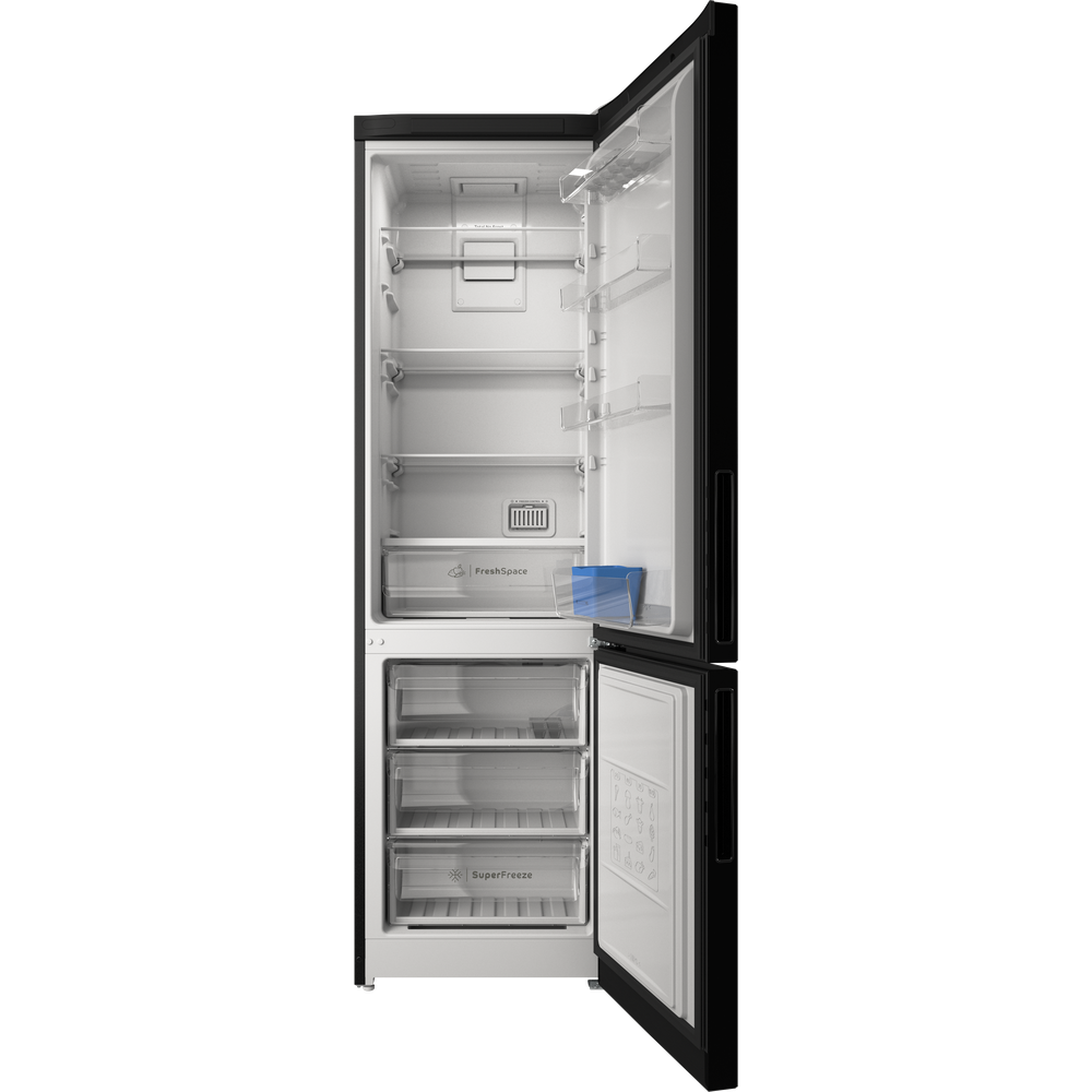 Indesit Холодильник с морозильной камерой Отдельностоящий ITR 5200 B Черный 2 doors Frontal open