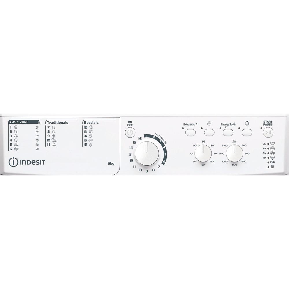 Indesit Wasmachine Vrijstaand EWC 51451 W EU N Wit Voorlader F Program