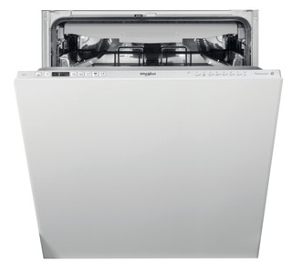 Máquina de lavar loiça encastrável da Whirlpool: cor prateada, tamanho grande - WIC 3C26 PF
