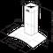 Whirlpool väggmonterad köksfläkt - AKR 982 IX
