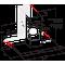 Whirlpool Emhætte Indbygning WHBS 93 F LE X Rustfrit stål Vægmonteret Elektronisk Frontal
