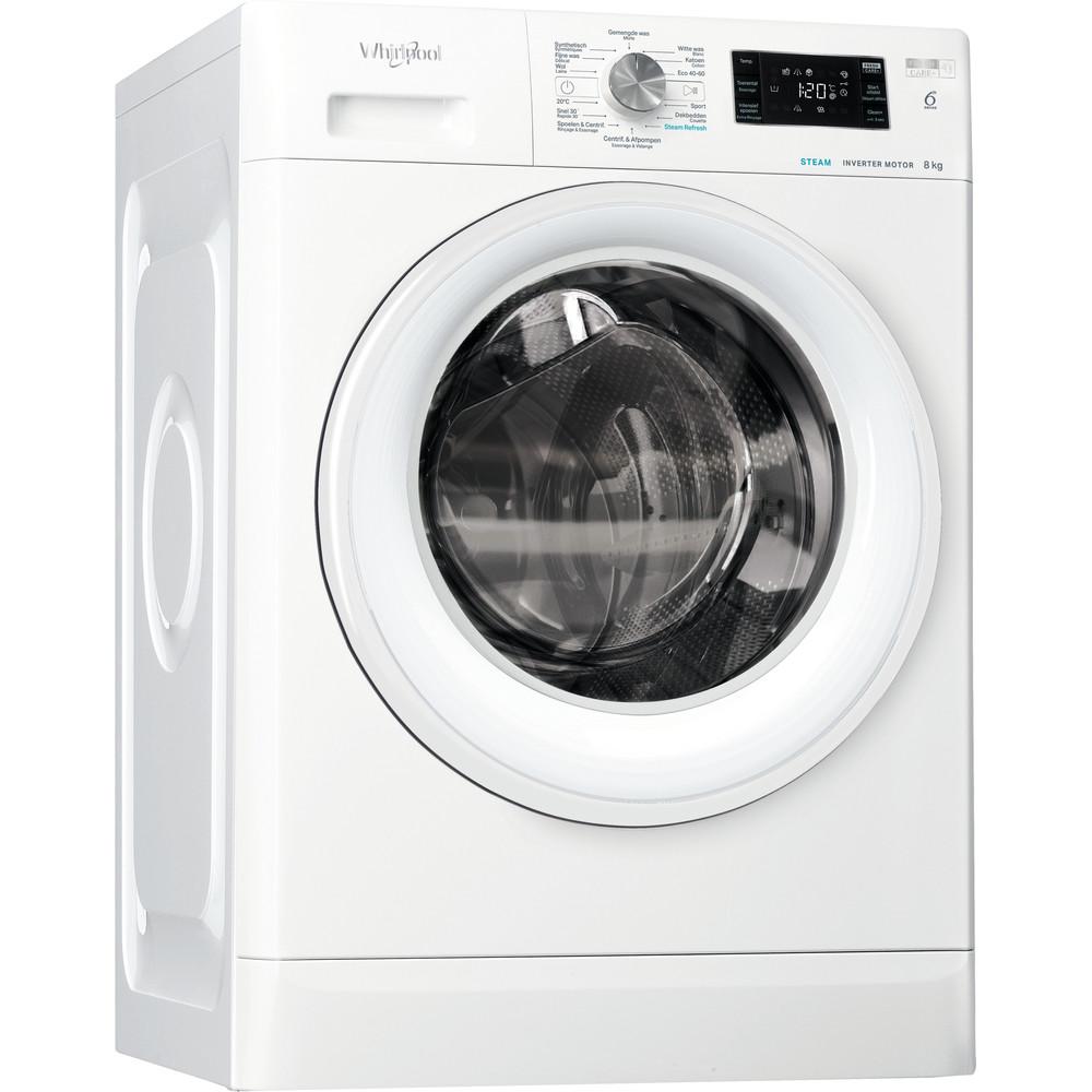 Whirlpool vrijstaande wasmachine: 8 kg - FFBBE 8448 WEV