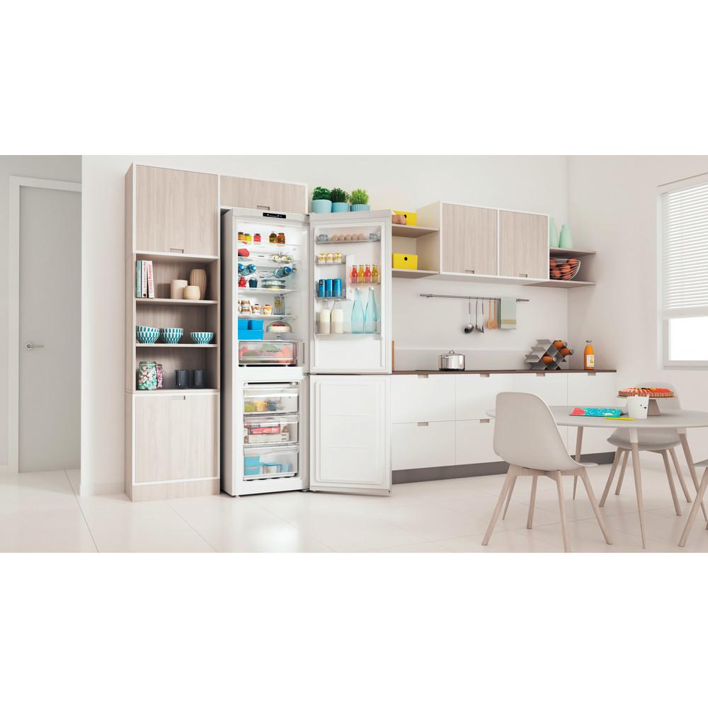 Indesit Kombinovaná chladnička s mrazničkou Voľne stojace INFC9 TI22W Biela 2 doors Lifestyle perspective open