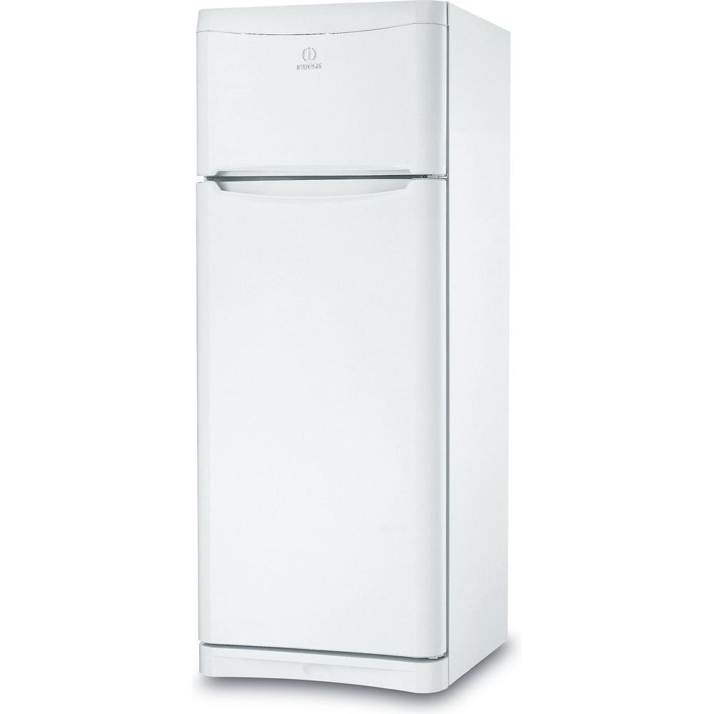 Indesit Combiné réfrigérateur congélateur Pose-libre TAA 5 V 1 Blanc 2 portes Perspective