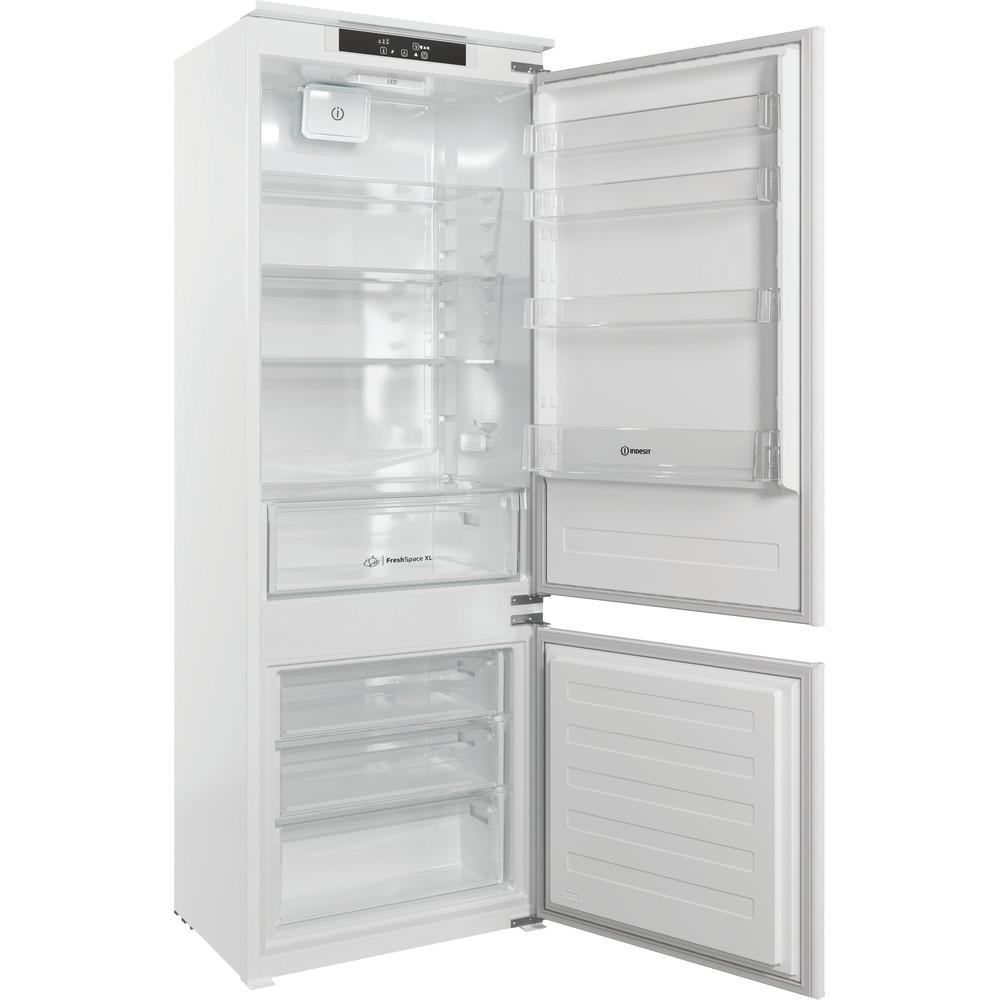 Indesit Combinazione Frigorifero/Congelatore Da incasso IND 400 Bianco 2 porte Perspective open