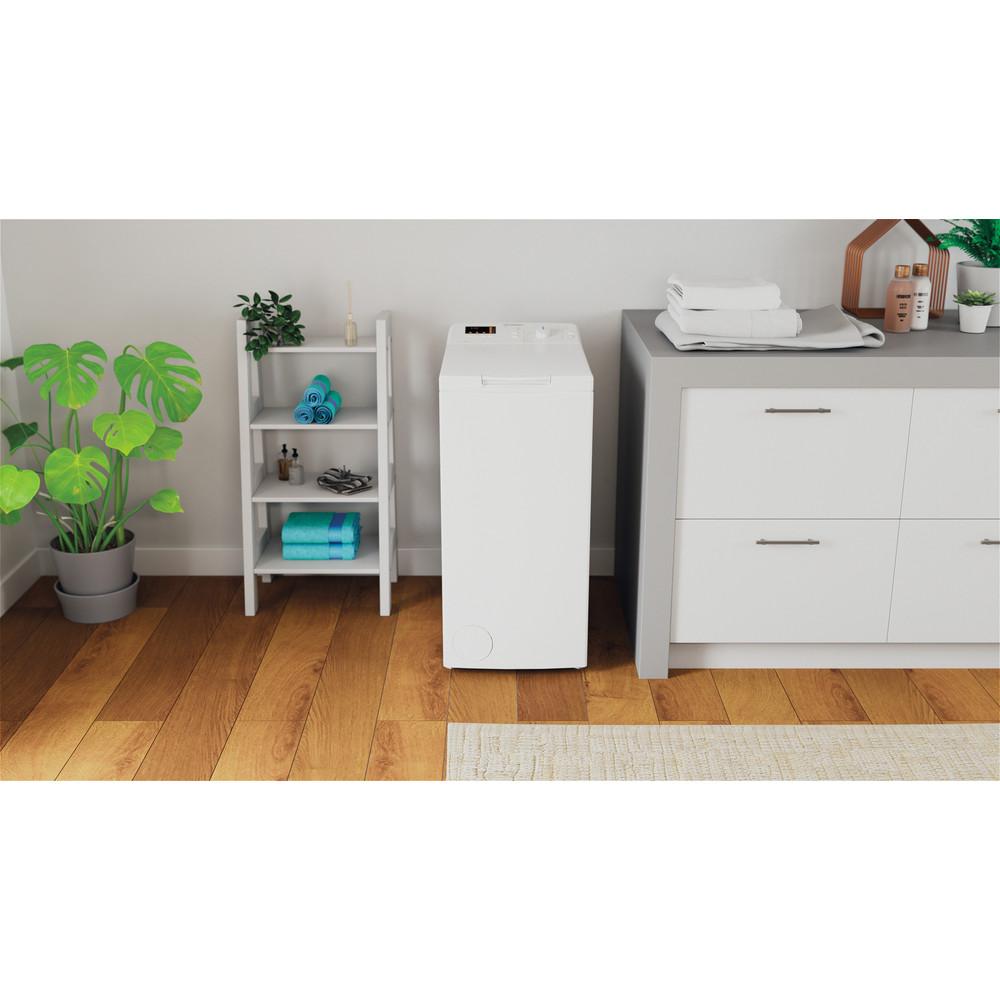 Indesit Pračka Volně stojící BTW S72200 EU/N Bílá Top loader A+++ Lifestyle frontal