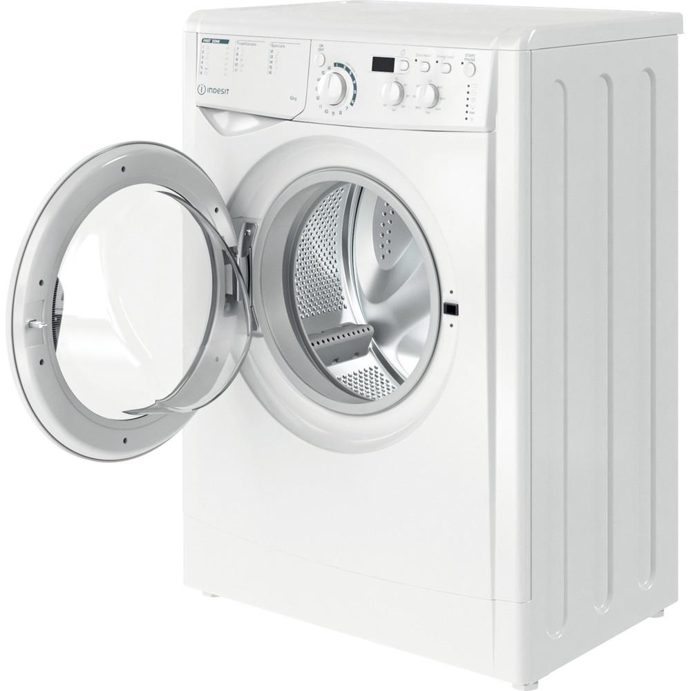 Indesit Waschmaschine Freistehend EWD 61051E W EU N Weiß Frontlader F Perspective open