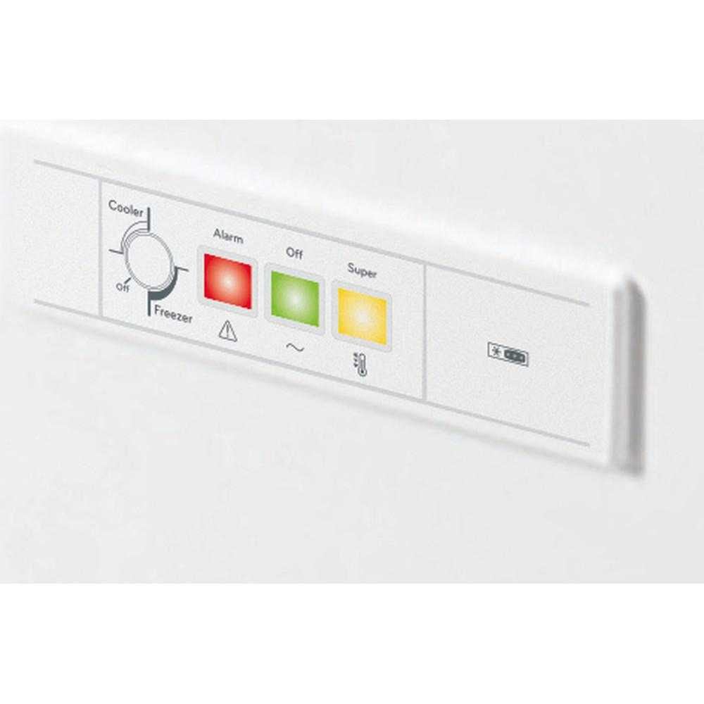 Indesit Fryser Fritstående OS 1A 300 H 2 Hvid Control panel
