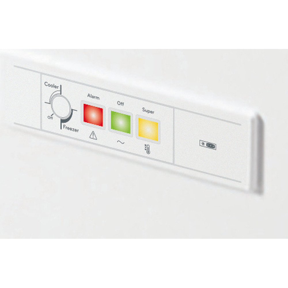 Indesit Fryser Frittstående OS 1A 300 H 2 Hvit Control panel