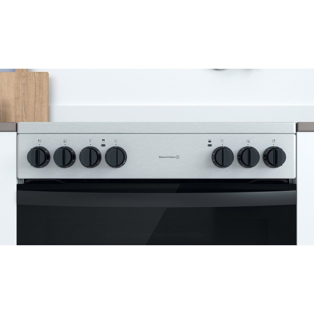 Indesit Double Cooker ID67V9HCCX/UK Inox A Lifestyle control panel