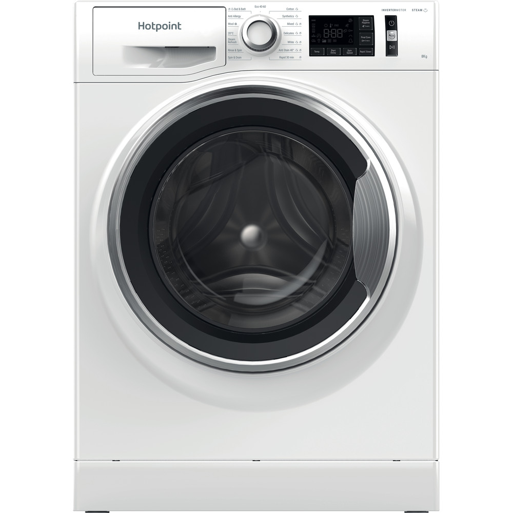Hotpoint Washing machine Free-standing NM11 844 WC A UK N White Front loader B Frontal