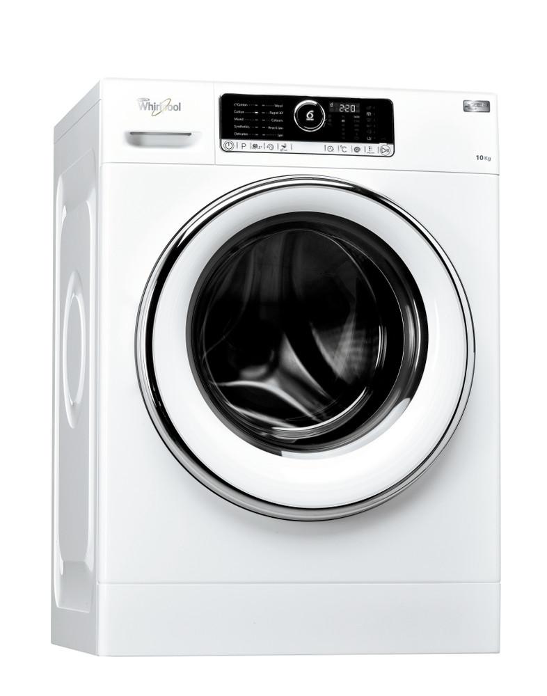 Whirlpool Washing machine مفرد FSCR 10421 أبيض محمل أمامي A+++ Perspective