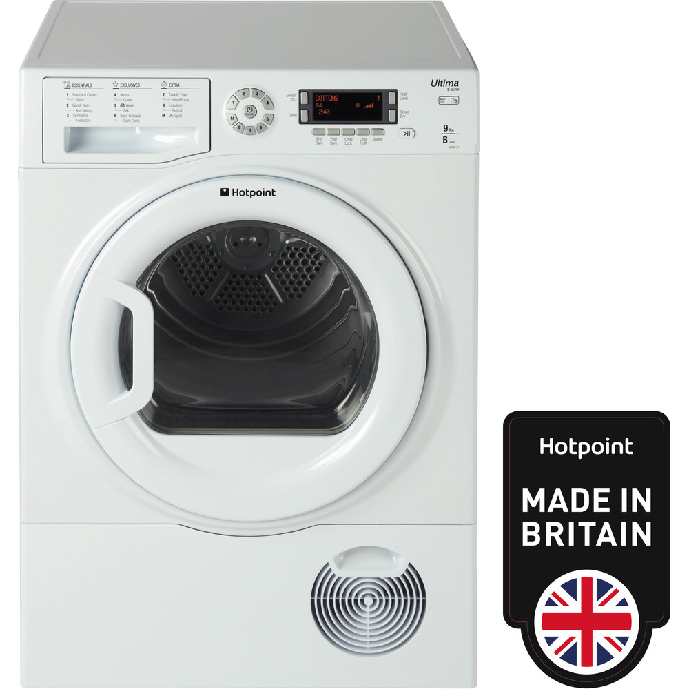 Hotpoint Dryer SUTCD 97B 6PM (UK) White Frontal