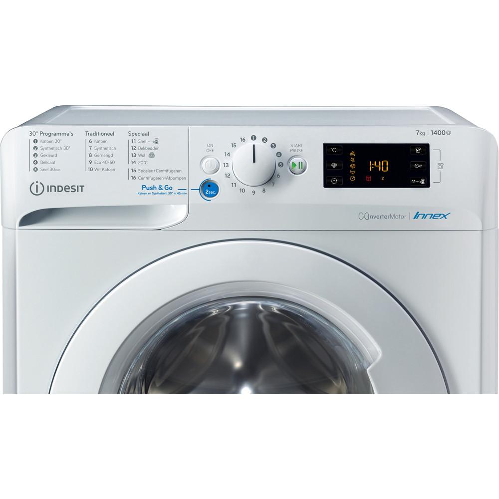 Indesit Wasmachine Vrijstaand BWENL 71483X W N Wit Voorlader A+++ Control panel