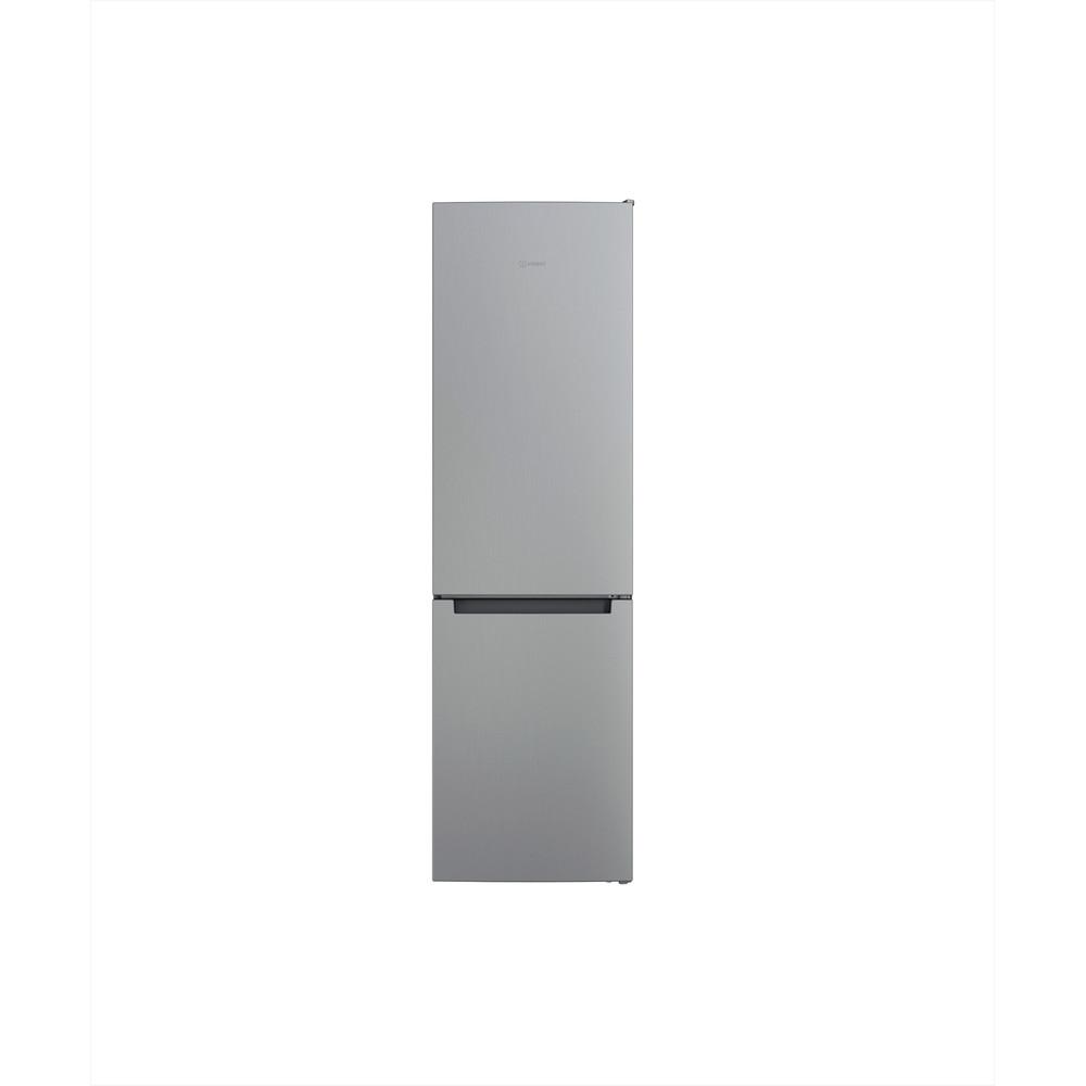 Indesit Combiné réfrigérateur congélateur Pose-libre INFC9 TI21X Inox 2 portes Frontal