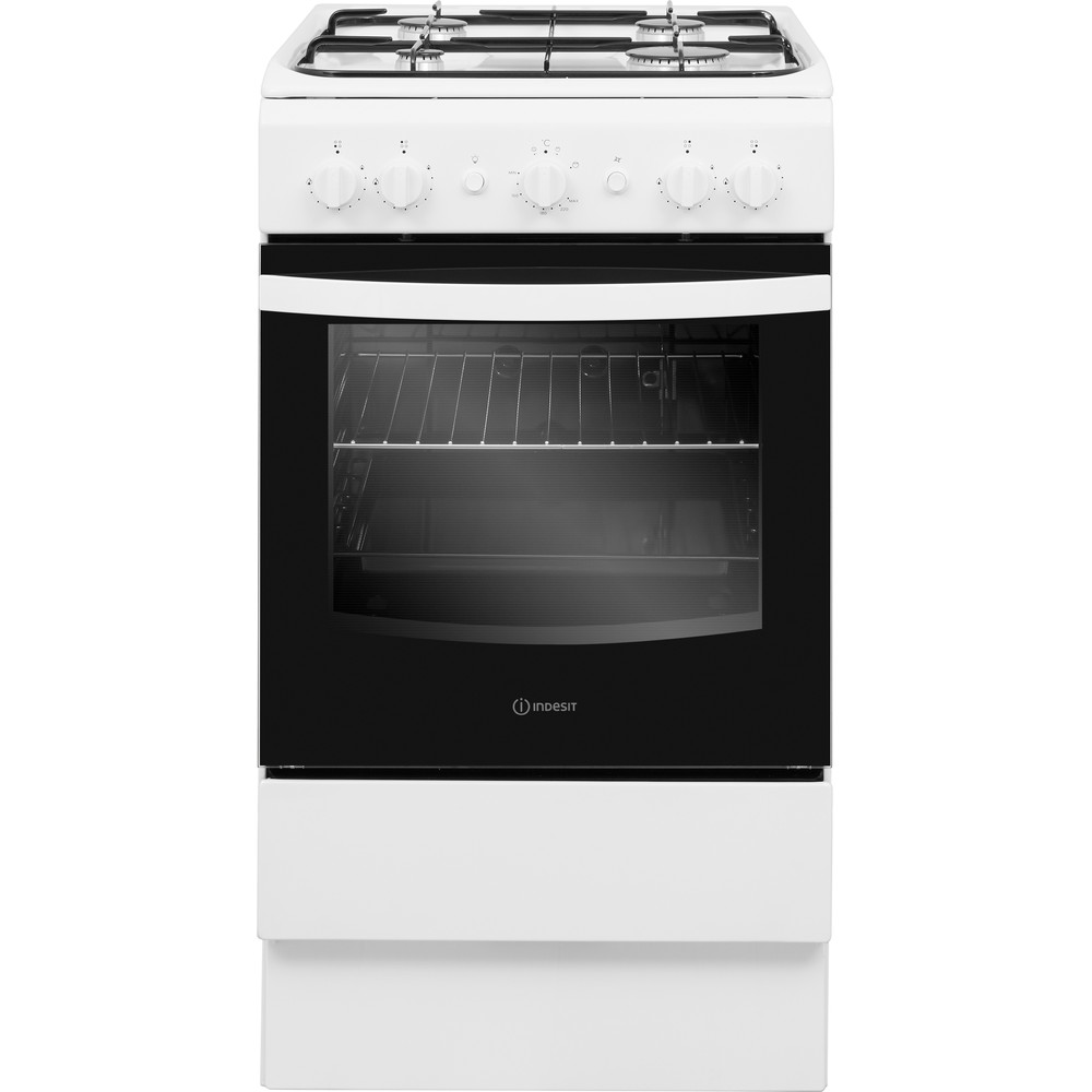 Indesit Cooker IS5G1KMW/U White GAS Frontal