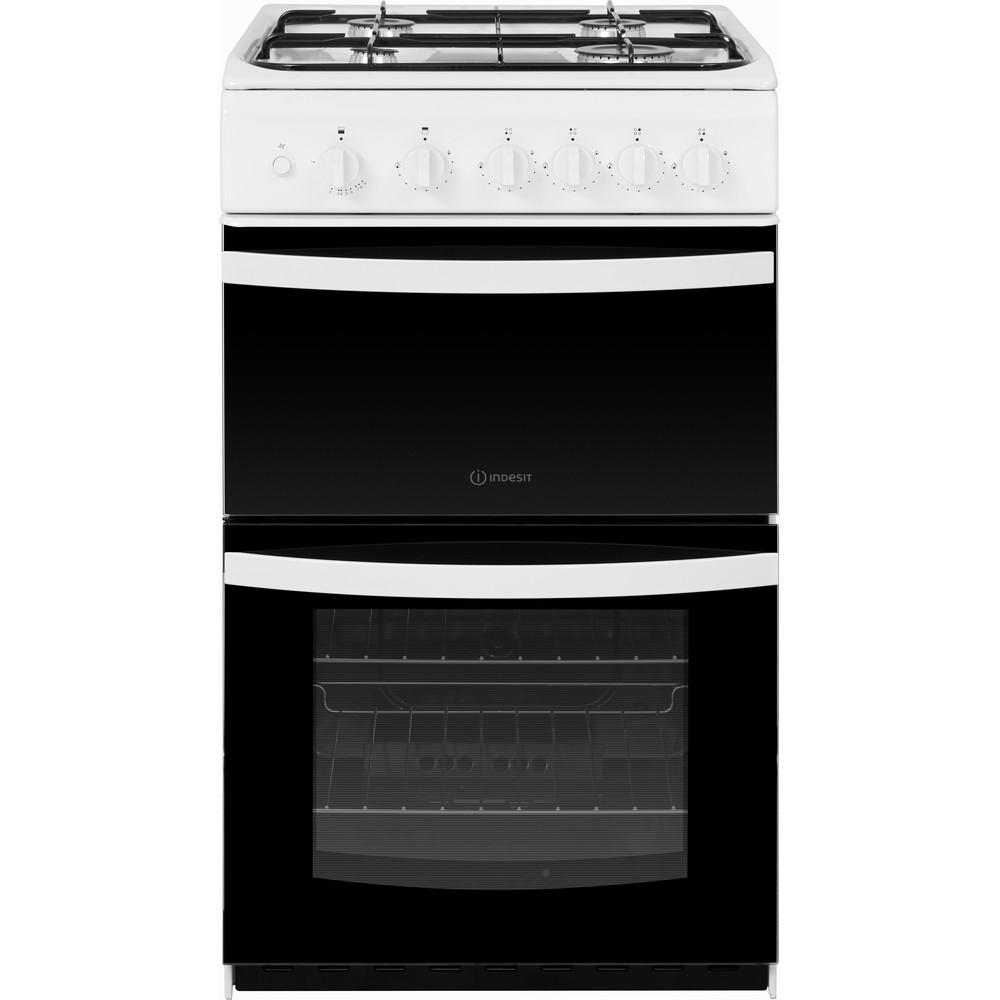 Indesit Double Cooker ID5G00KMW/UK White A+ Enamelled Sheetmetal Frontal