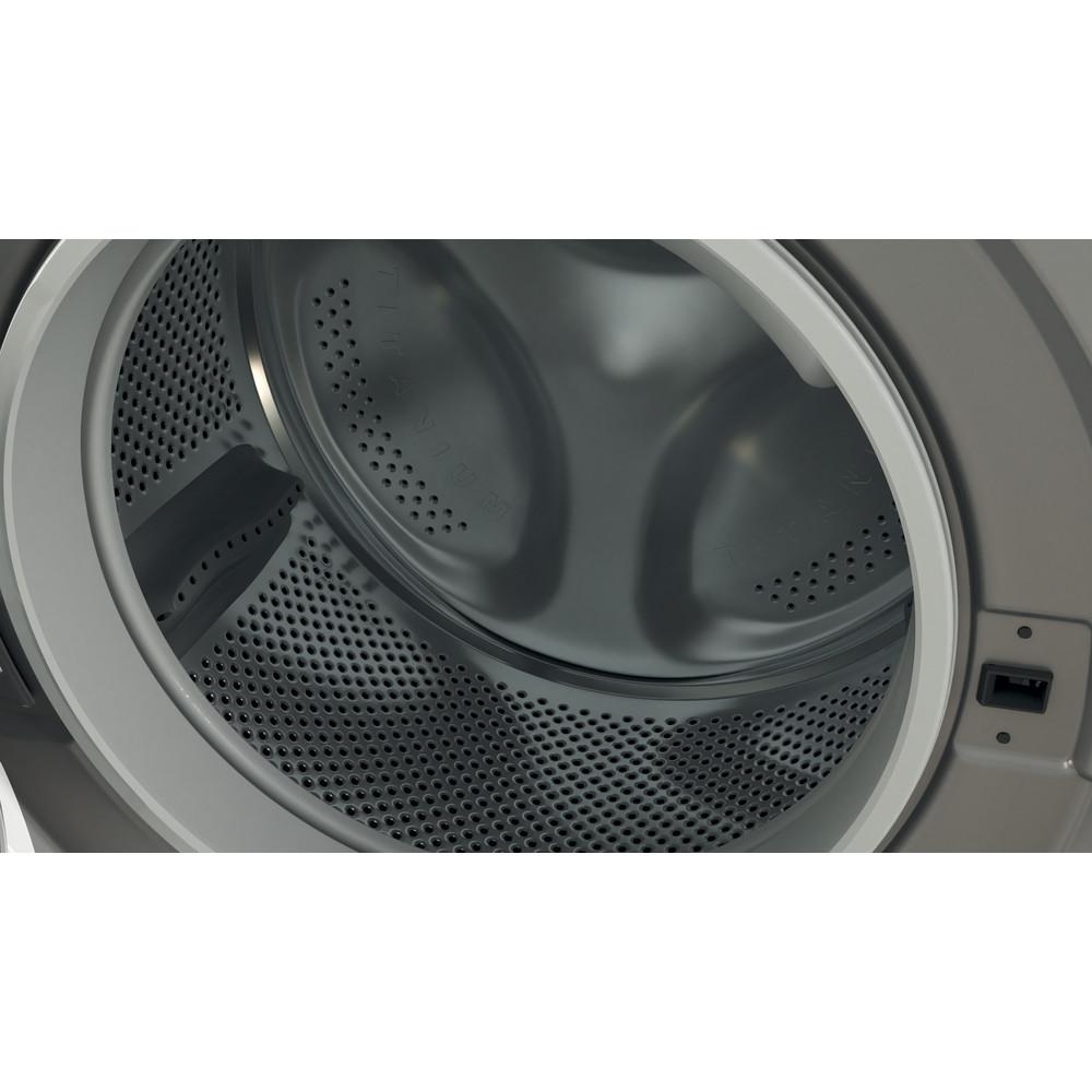 Indesit Washer dryer Free-standing BDE 861483X S UK N Silver Front loader Drum