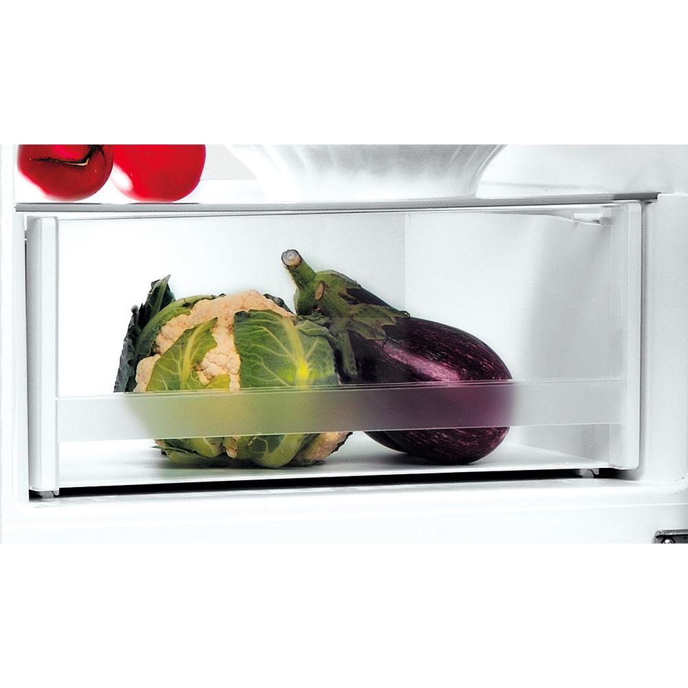 Indesit Hűtő/fagyasztó kombináció Szabadonálló LI8 S2E X Inox 2 doors Drawer