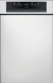 Whirlpool teilintegrierte Geschirrspüler: Farbe Edelstahl., Slimline. - WSBO 3O23 PF X
