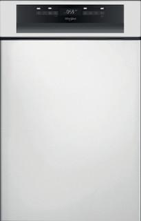 Whirlpool félig integrált mosogatógép: Inox szín, keskeny - WSBO 3O23 PF X