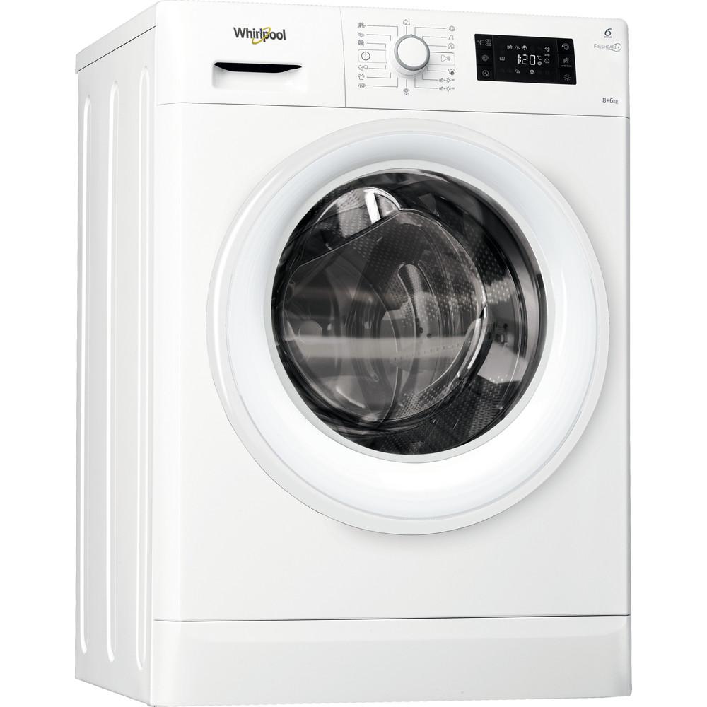 Whirlpool fristående tvätt-tork: 8 kg - FWDG86148W EU
