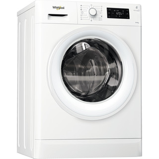 Whirlpool frittstående vask/tørk: 8 kg - FWDG86148W EU