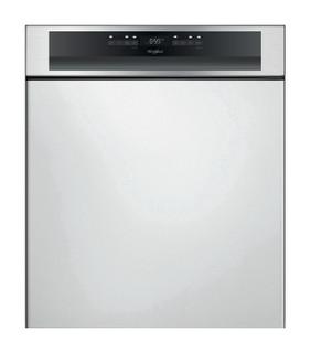 Whirlpool félig integrált mosogatógép: Inox szín, normál méretű - WBO 3T341 P X