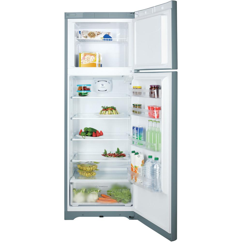 Indesit Combinazione Frigorifero/Congelatore A libera installazione TIAA 12 V SI 1 Argento 2 porte Frontal open