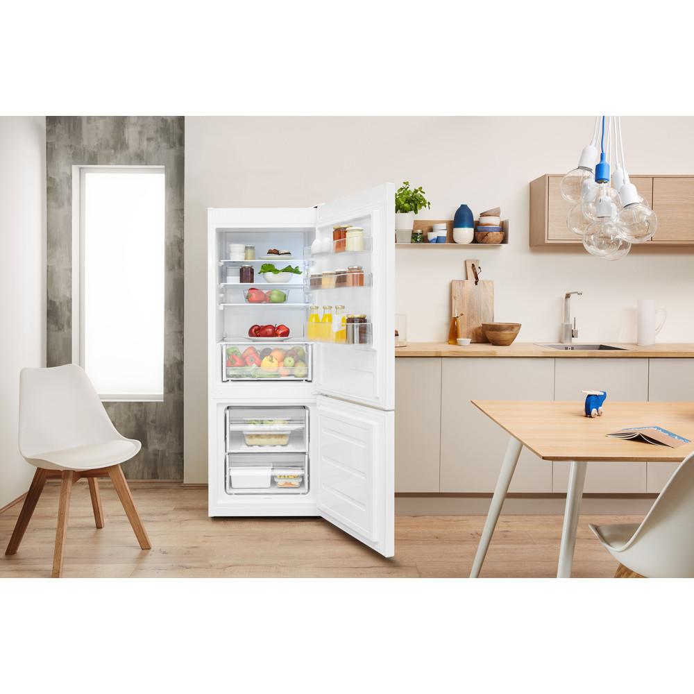 Indesit Холодильник с морозильной камерой Отдельно стоящий LR6 S1 W Белый 2 doors Lifestyle frontal open