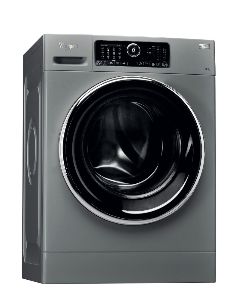 Whirlpool Washing machine Free-standing FSCR10422 Silver Front loader A+++ Perspective